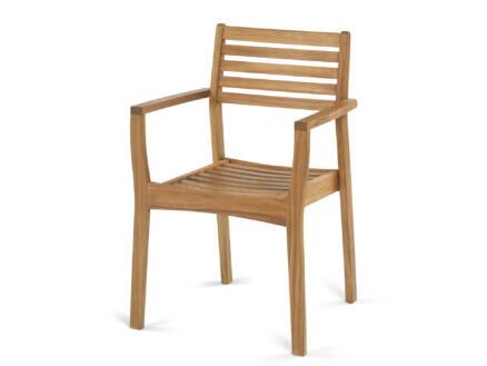 Garden Plus Mesquida chaise de jardin brun