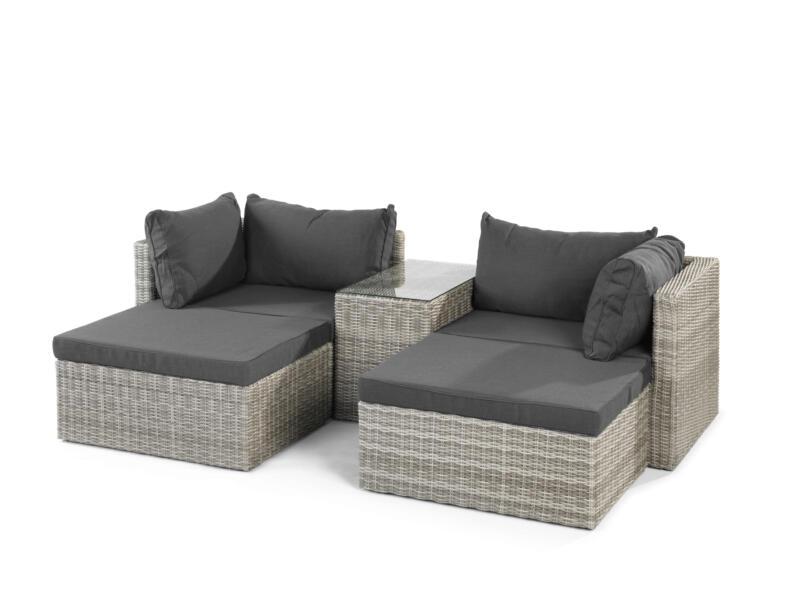 Garden Plus Messina loungeset grijs/antraciet