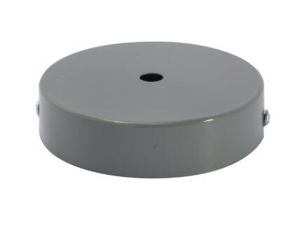Chacon Metallic plafondkapje 1 gat 10cm grijs