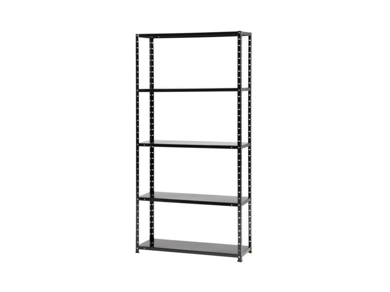 Practo Home Metalrack opbergrek 180x90x30 cm metaal zwart