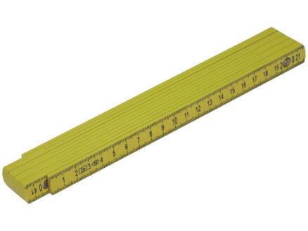 Mack Mètre pliant 2m matière synthétique jaune
