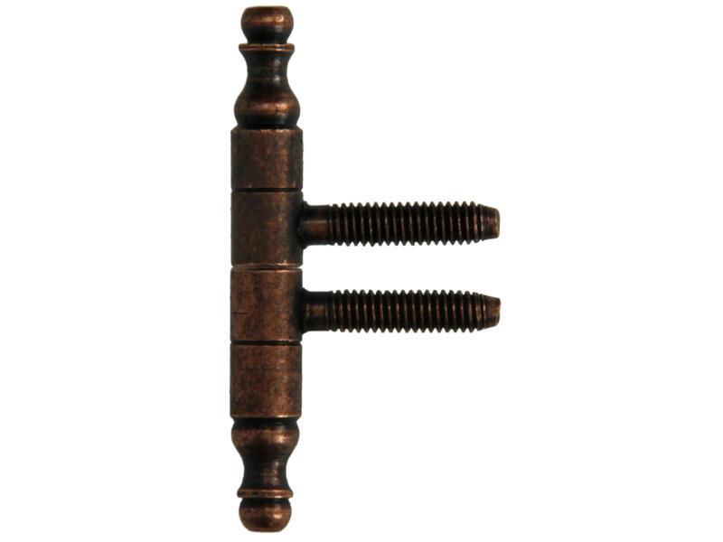 Meubelinboorpaumel 6,6cm brons