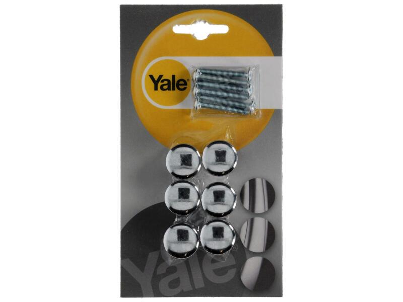 Yale Meubelknop 20mm chroom glans 6 stuks