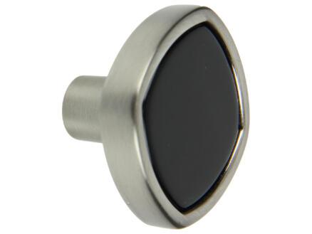 Yale Meubelknop 35mm inox en acryl zwart