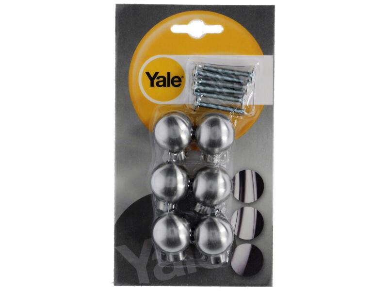 Yale Meubelknop Ride 25mm inox 6 stuks