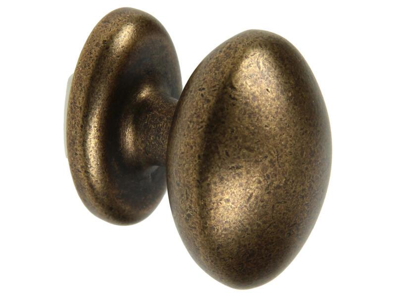 Sam Meubelknop met rozet 35mm brons