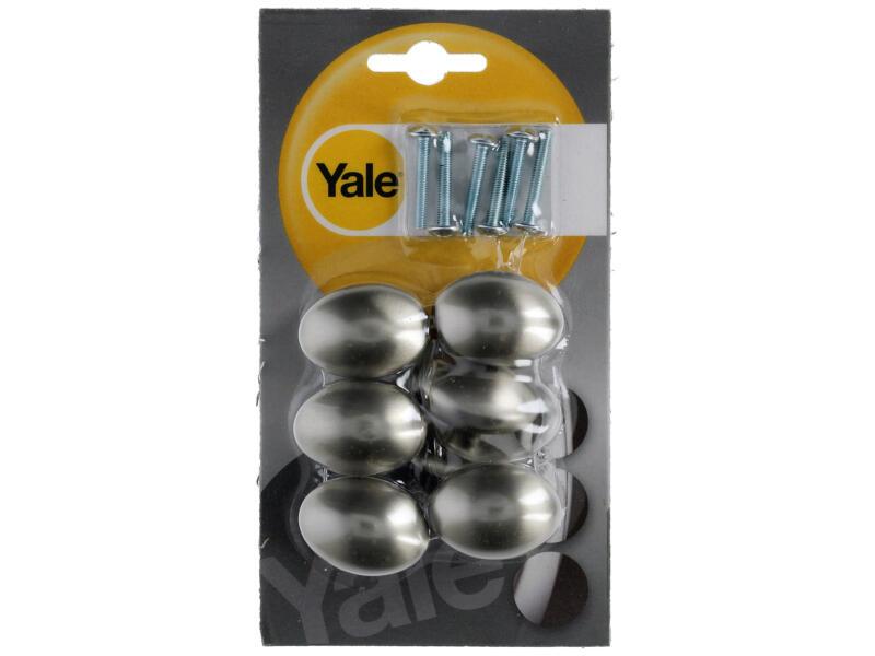 Yale Meubelknop met rozet 35mm inoxlook