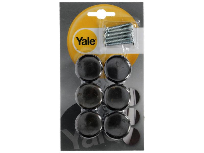 Yale Meubelknop paddestoel 32mm donker 6 stuks