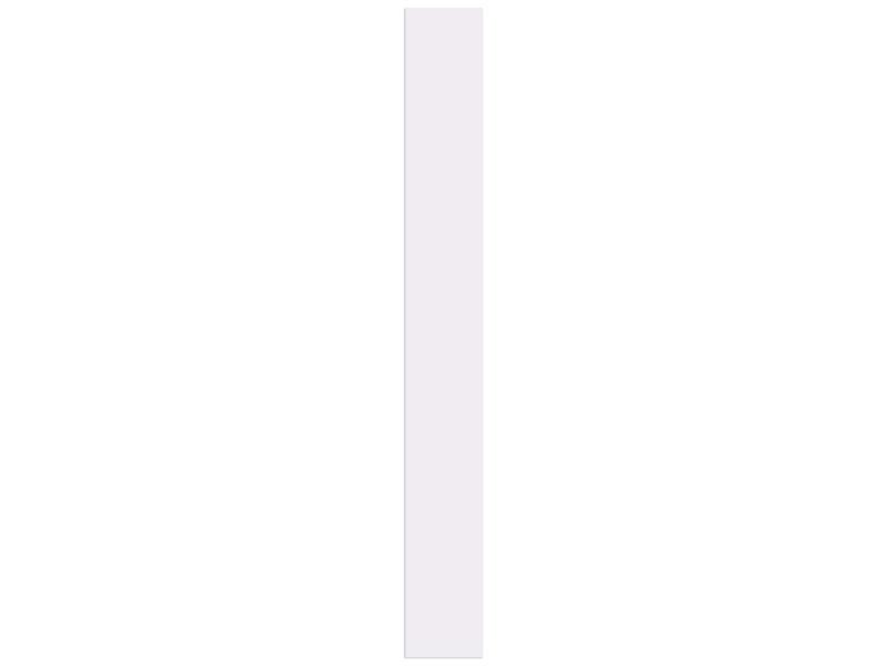 Meubelpaneel 250x30 cm 18mm wit