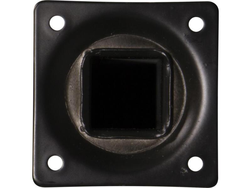Meubelpoot 25x25 mm 40cm metaal zwart