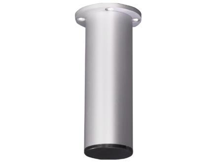 Meubelpoot vlak rond 38mm 11cm aluminium