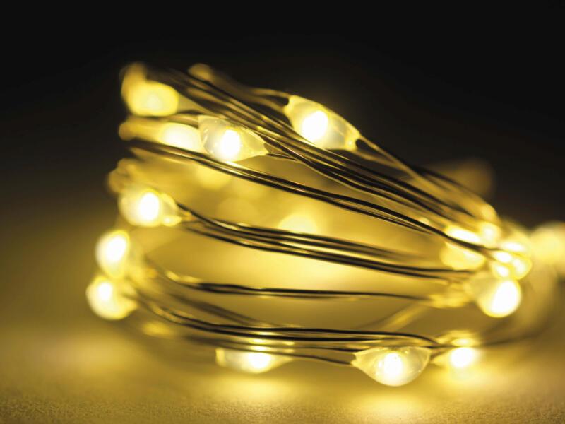 Micro LED guirlande lumineuse 195cm blanc chaud