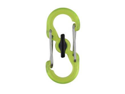 Nite Ize Microlock S-Biner S-karabijnhaak groen 2 stuks