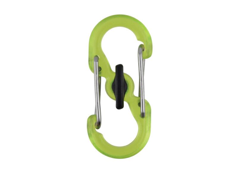 Nite Ize Microlock S-Biner mousqueton S vert 2 pièces