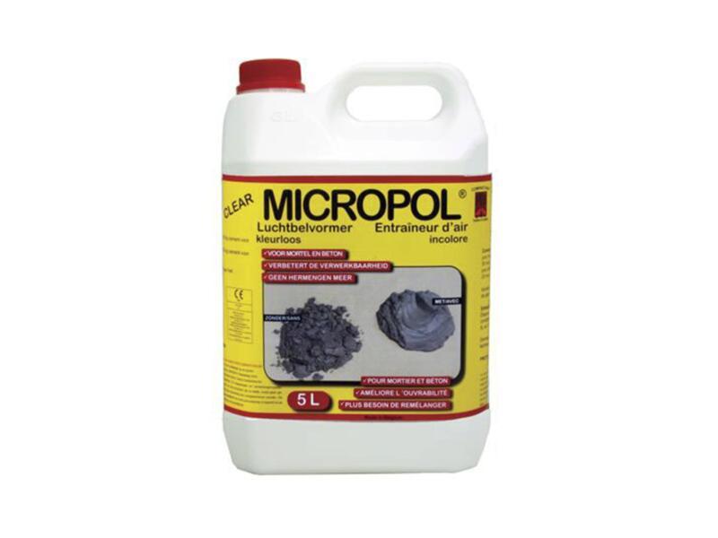 Micropol Clear luchtbelvormer voor mortel en beton 5l