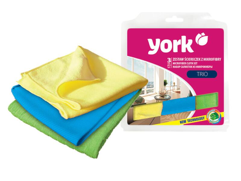 York Microvezeldoek 30x30 cm 3 stuks
