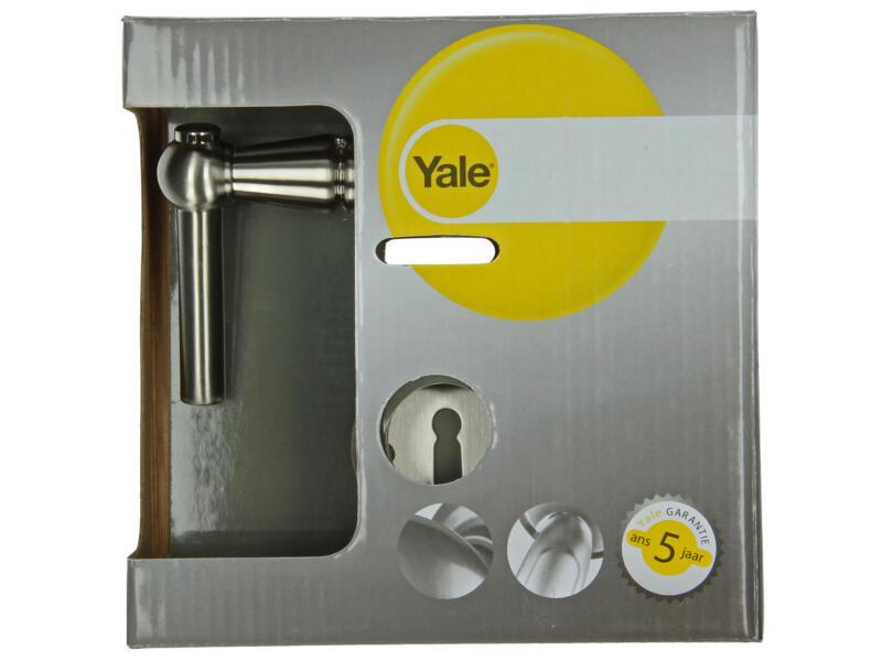 Yale Mika BB poignée de porte avec rosaces 51mm set complet nickelé mat