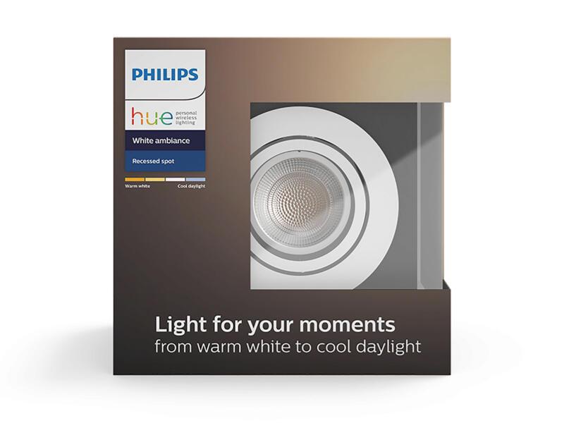 Philips Hue Milliskin spot LED encastrable GU10 5,5W blanc