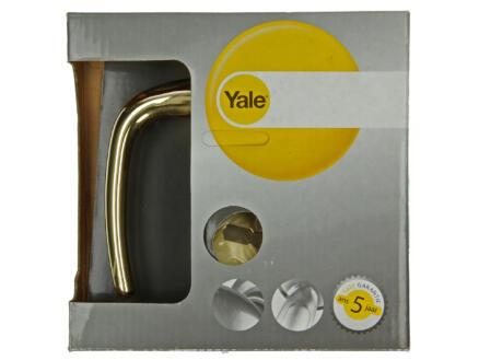 Yale Milo BB poignée de porte avec rosaces 49mm set complet laiton poli