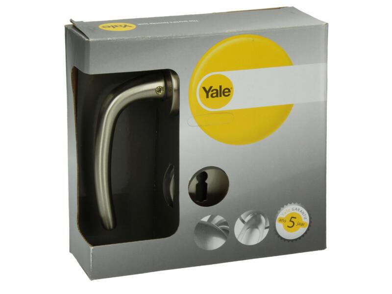 Yale Milo BB poignée de porte avec rosaces 49mm set complet nickelé mat