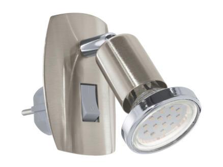 Eglo Mini 4 LED stekkerspot GU10 3W nikkel