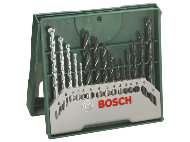 Bosch Mini X-Line universele borenset 3-8 mm 15-delig