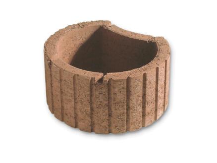 Mini bac à fleurs 35x28 cm béton brun