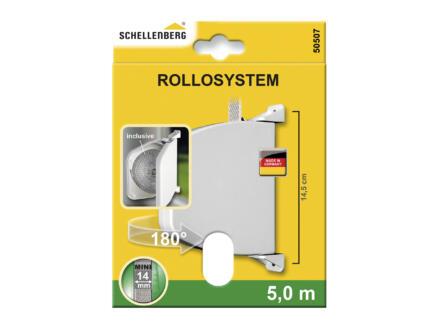 Schellenberg Mini enrouleur de sangle en saillie orientable blanc