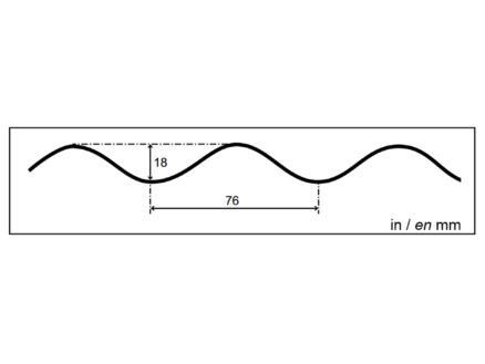 Scala Mini-rouleau ondulée 76/18 2,5x5 m polyester