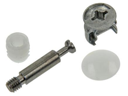 Minifix ferrure d'armoire 6x15 mm blanc 4 pièces