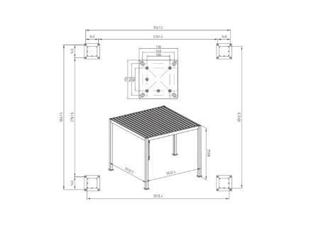Mirador Basic paviljoen 300x300 cm