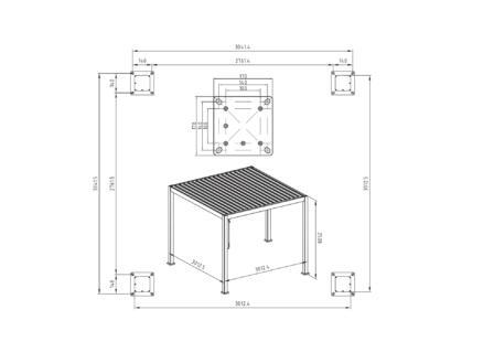 Mirador Deluxe paviljoen 300x300 cm wit