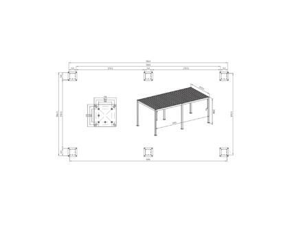 Mirador Deluxe paviljoen 300x600 cm wit