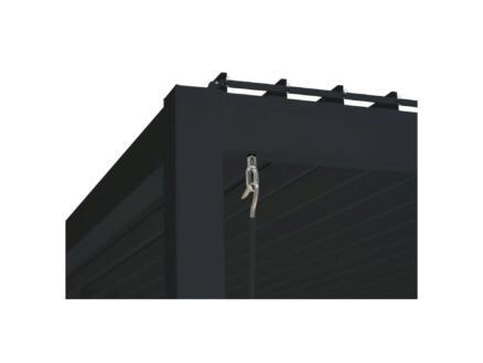 Mirador Deluxe paviljoen 360x360 cm zwart