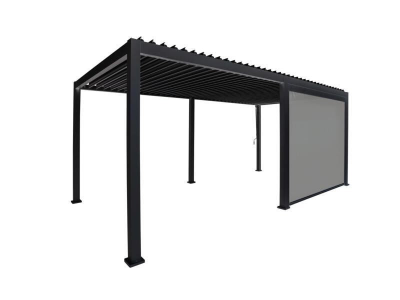 Mirador paviljoen zijscherm 300cm zwart