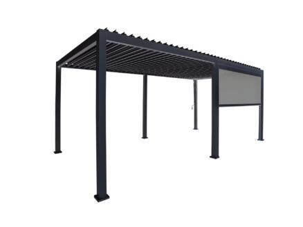 Mirador paviljoen zijscherm 400cm zwart
