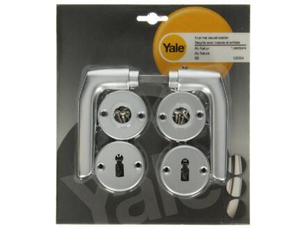 Yale Model 119 BB deurklinkset op rozet 52mm aluminium