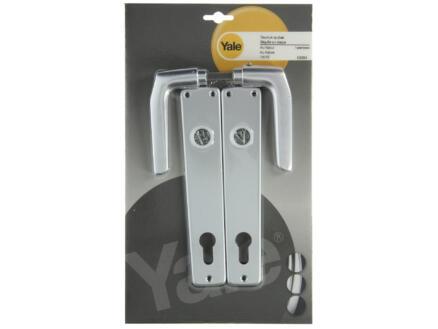 Yale Model 119 PZ110 deurklinkset op plaat 38mm aluminium