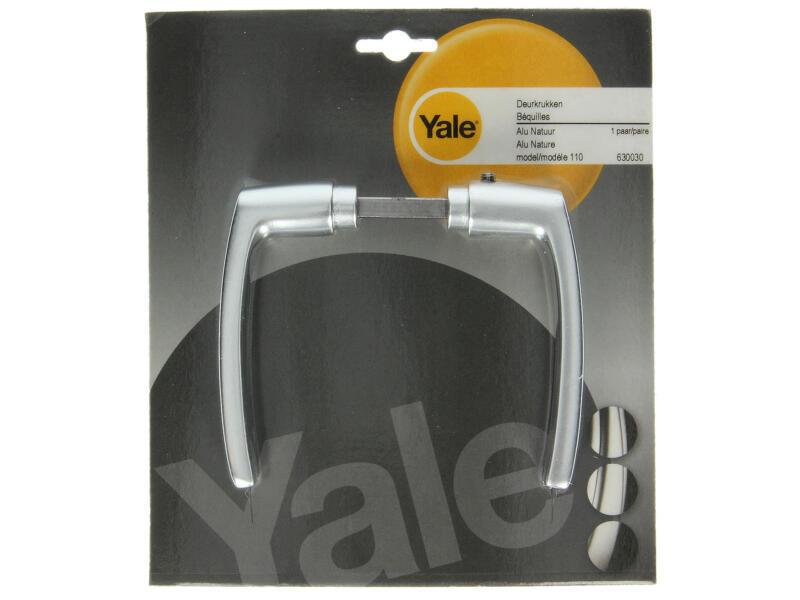 Yale Modèle 110 poignée de porte set complet aluminium