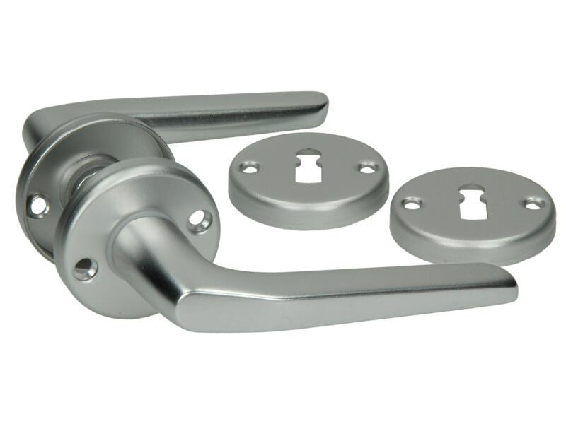 Yale Modèle 119 BB poignée de porte avec rosaces 52mm set complet aluminium