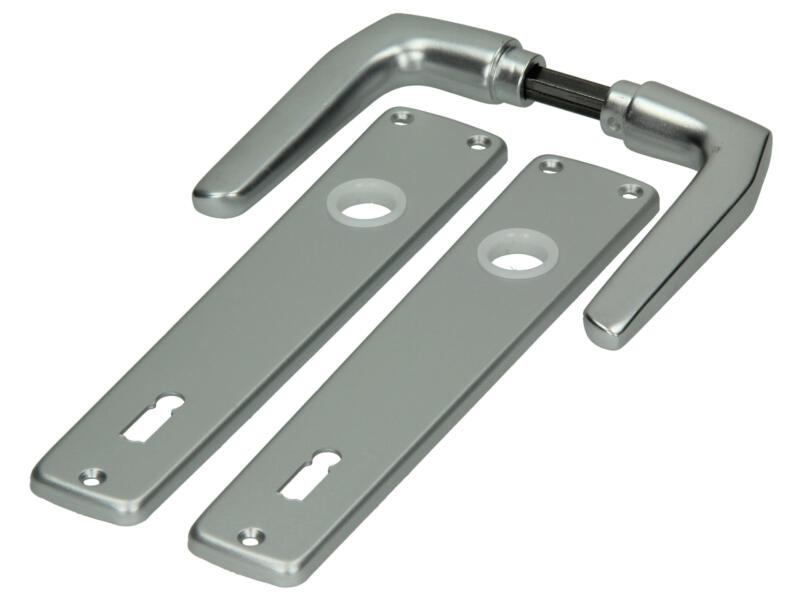 Yale Modèle 119 BB110 poignée de porte avec plaques 38mm set complet aluminium