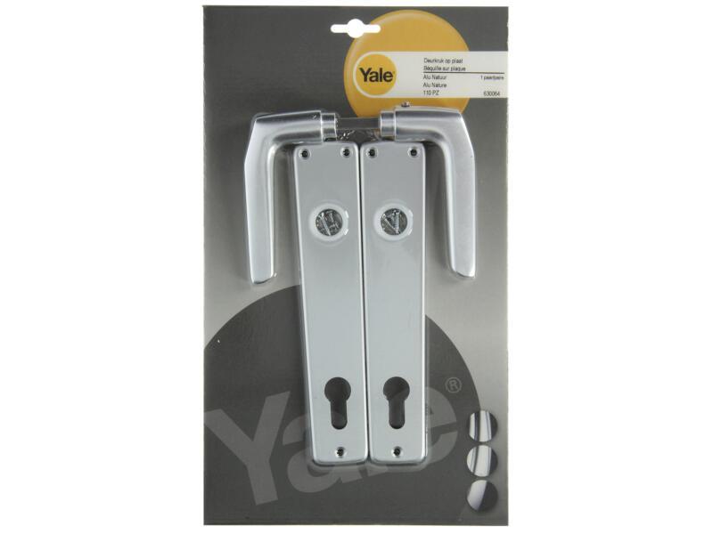 Yale Modèle 119 PZ110 poignée de porte avec plaques 38mm set complet aluminium
