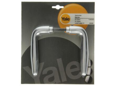 Yale Modèle 141 poignée de porte set complet aluminium