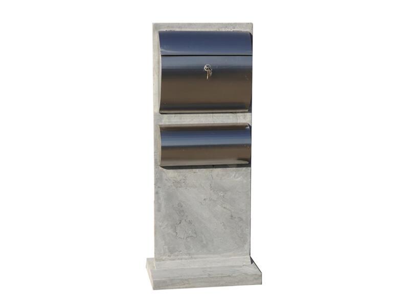 De Witte Modèle 29 boîte aux lettres avec porte-journaux pierre bleue