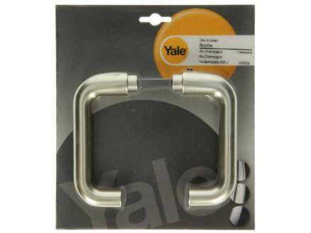 Yale Modèle 405 poignée de porte set complet aluminium champagne