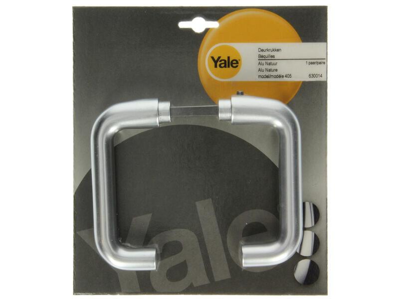 Yale Modèle 405 poignée de porte set complet aluminium