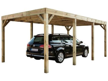 Modena carport 324x589 cm hout