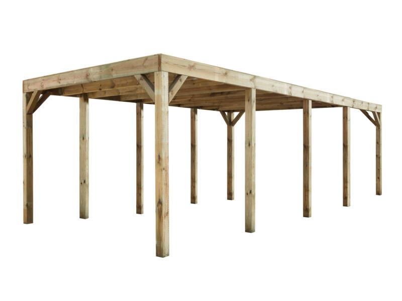 Modena carport 324x780 cm hout