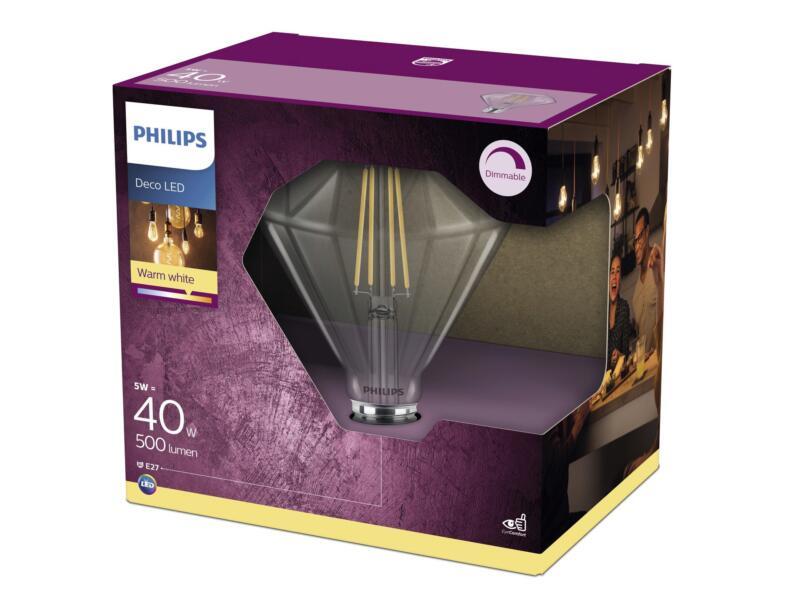 Philips Modern LED diamantlamp filament E27 5W wit dimbaar