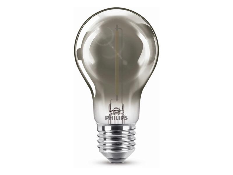 Philips Modern Smoky ampoule LED poire E27 2,3W blanc chaud